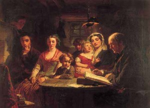 The Cotter's Saturday Night, by Alexander Johnston (1863)