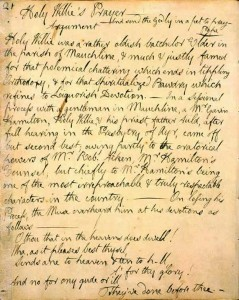 Manuscript of Holy Willie's Prayer