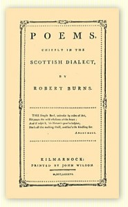 Kilmarnock Edition of Burns' Poems