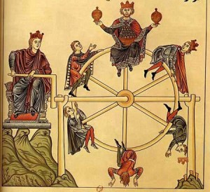 The Wheel of Fortune, from L'Hortus_Deliciarum