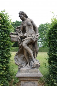 Allegory of the month of May, Statue in the Garden of the Castle in Lysá nad Labem.