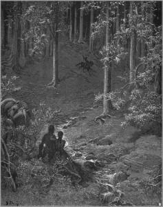 """Gustave Doré's illustration of Ludovico Ariosto's """"Orlando Furioso""""."""