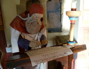 Figure of Robert Henryson, Abbot House, Dunfermline