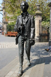 Statue of Robert Fergusson, Canongate, Edinburgh