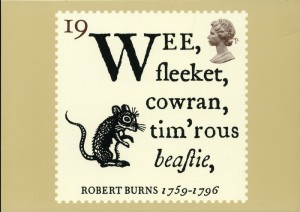 Postage stamp featuring 'To a Mouse'