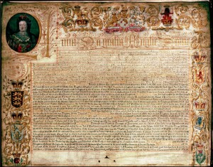 A copy of the 1707 Treaty of Union