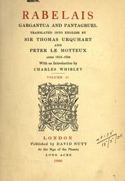 Urquhart's translation of Rabelais