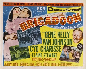 Poster of the Hollywood musical film of 'Brigadoon'