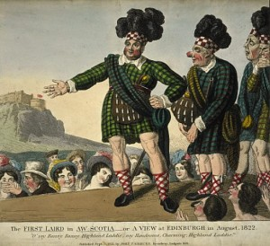 Cartoon of George IV's Visit to Scotland in 1822
