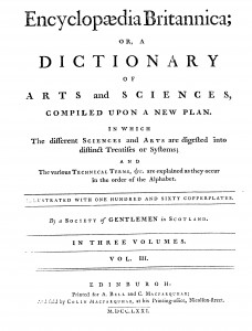 Encyclopedia Britannica 1st edn