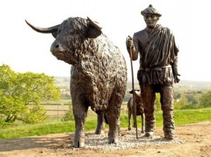 Statue of a Highland Drover