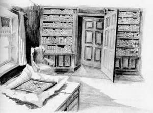 Illustration of 'The Library Window'