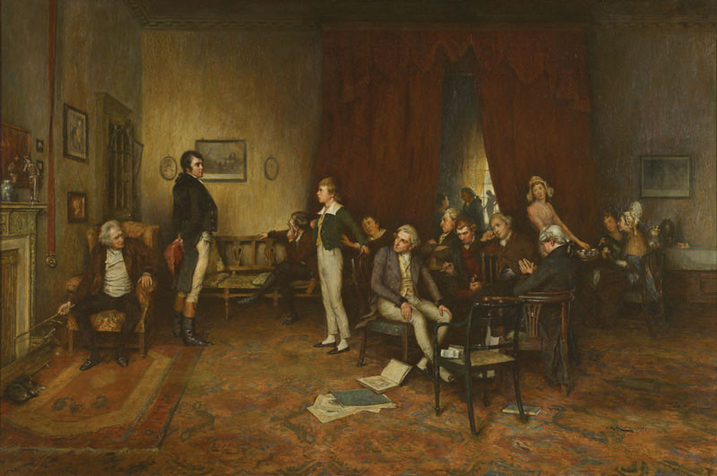 The meeting of Burns and Scott, by Charles Martin Hardie