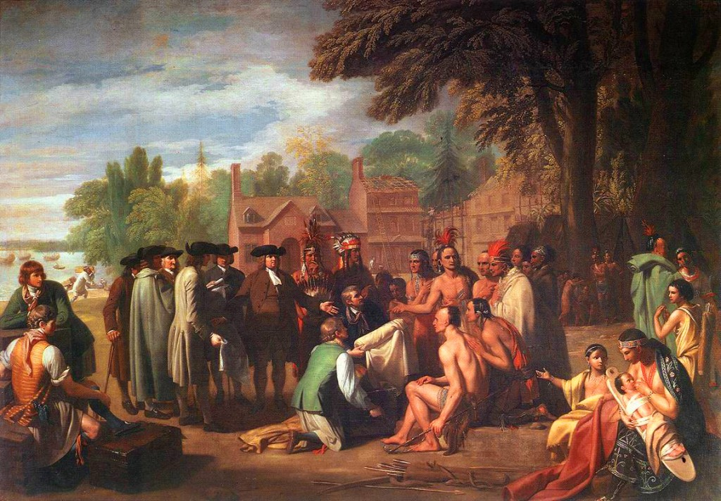Treaty of Penn with the Indians, by Benjamin West